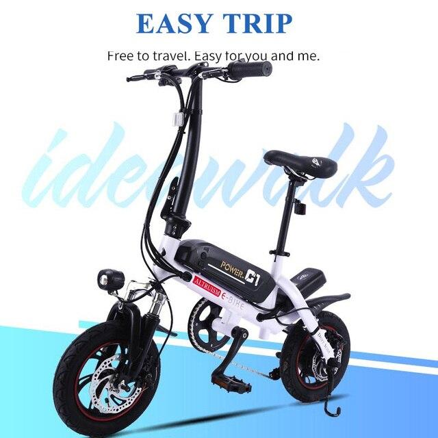 ALTRUISM C1 Мини-Электровелосипед 12 Дюймов Портативный Складной Безопасный 36В Литевого Аккумулятора с Максимальной Скоростью 30 км/час