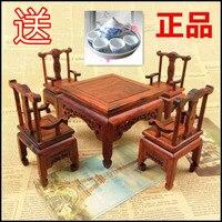 Kylin палисандр ремесла Micro миниатюрная мебель стол, стулья пять комплектов небольшой площади стул