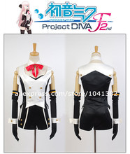 Vocaloid 2 Cosplay Luka Megurine Black and Red Dress DYE -synthesis- Song-over(China)