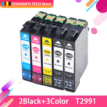 Compatible for 5Pack Ink Cartridge for Epson XP-335 XP-342 XP-345 XP-432 XP335 XP342 XP345 printer compatible T2991 29XL T2991XL computer gaming chair ergonomic executive chair leather internet cafes wcg office lying household chair