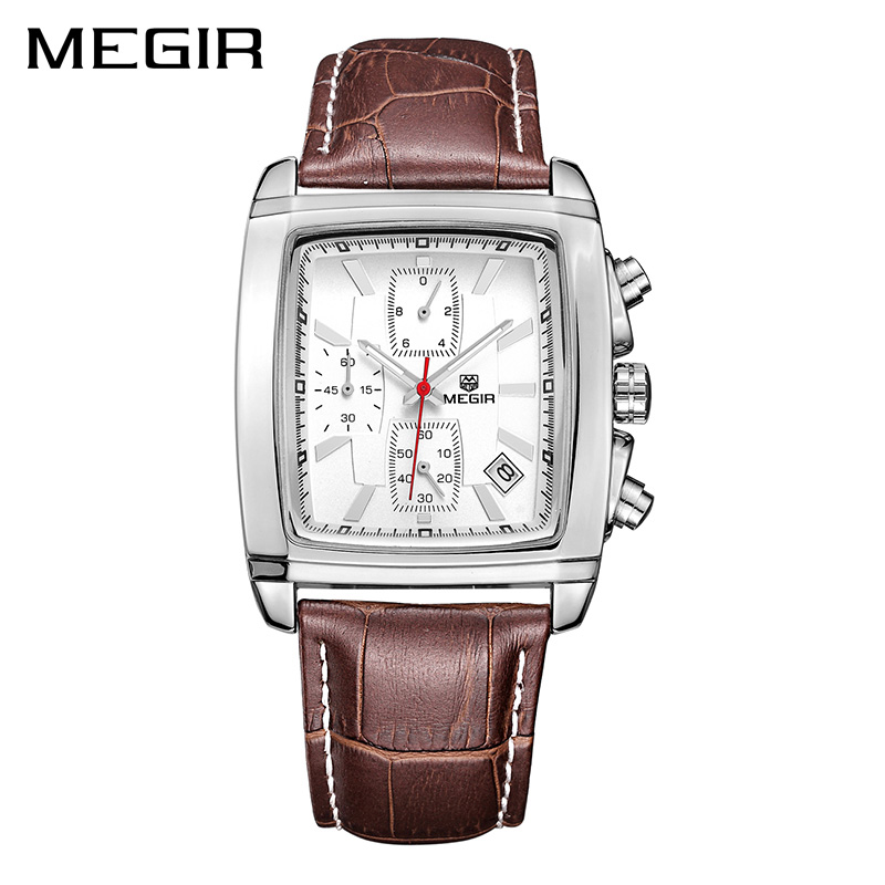 MEGIR Original Quartz Watch Men Top Brand Luxury Army Military Watches Leather Dress Wristwatch Clock Mens Relogio Masculino new listing men watch luxury brand watches quartz clock fashion leather belts watch cheap sports wristwatch relogio male gift