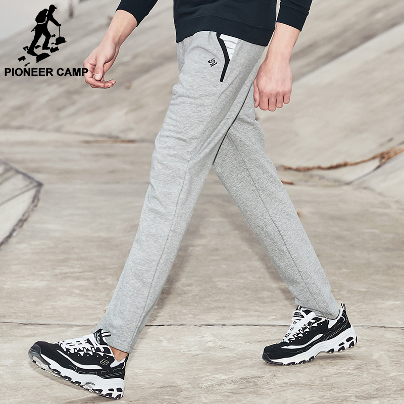 Pioneer Camp brand clothing 2018 New Spring sweatpants men fashion male casual pants top quality straight trousers AZZ701003