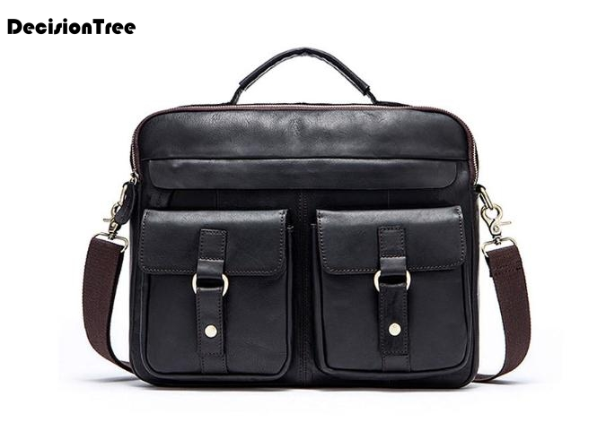 Briefcase-Bag Mature Business Crazy-Horse Genuine-Leather Handbagl103 New Men Large-Capacity