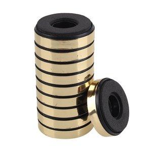 30 мм x 8 мм круглый изоляционный CD-плеер, аудио динамик, Антивибрационная Подушка подставка для ног золотая упаковка 10