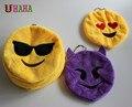 Оптовая продажа 10 см Novetly Emoji небольшой кулон кожи смайли смайлик мягкие плюшевые игрушки без vip-заполните ключ и мешок цепи