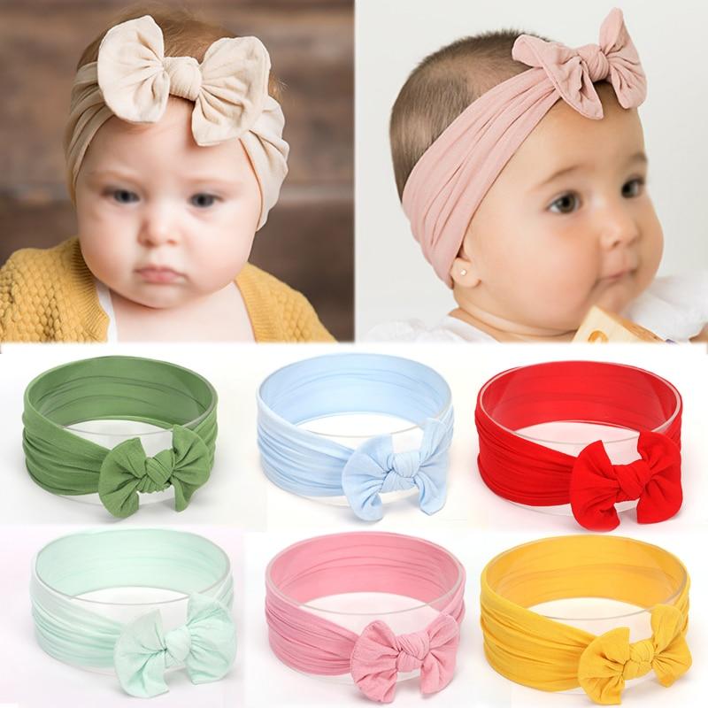 18 Color New Hair Bow Flower Headband Silver Ribbon Hair Band Handmade DIY Hair Accessories For Children Newborn