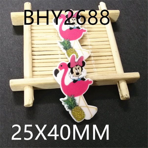 Free shipping 50pcslot 25x40MM  cartoon  planar resin BHY2688
