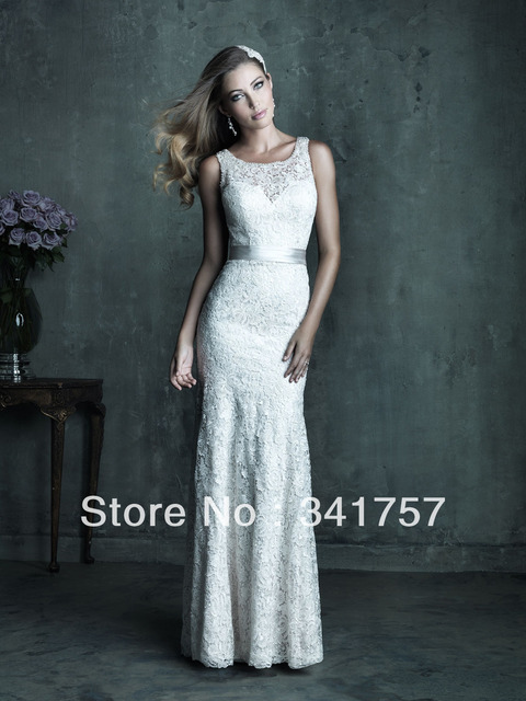 93a1b64aa29c3 US $219.68 |Vintage 1920s Corset Wedding Dress Lace Bridal Gown High Neck  Sheer Back Sashes Satin Free Shipping WL486-in Wedding Dresses from  Weddings ...