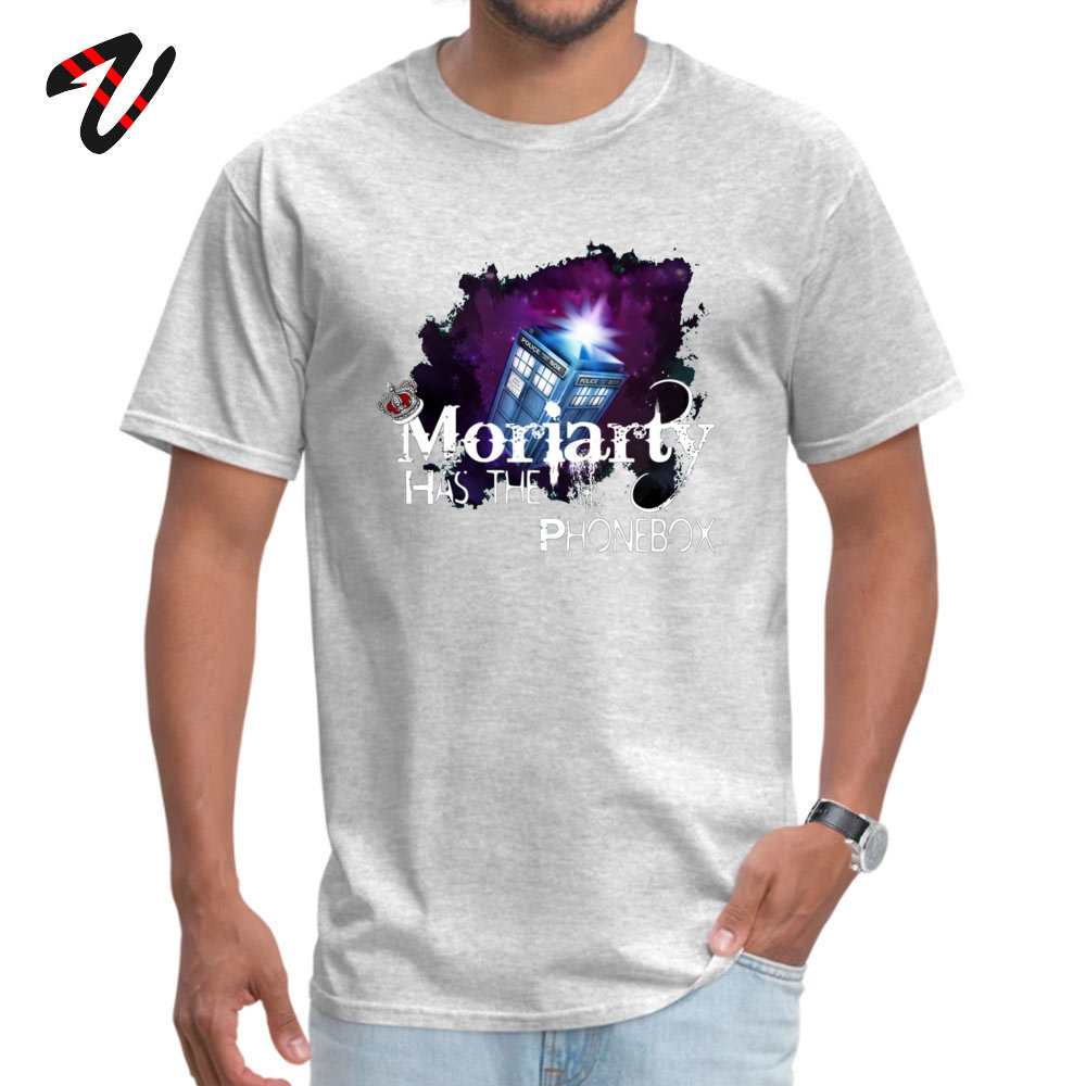 Moriarty has the Phonebox T-Shirt for Men Slim Fit Summer T Shirt Movie Japan New Coming Customized Tshirts Crew Neck Cotton