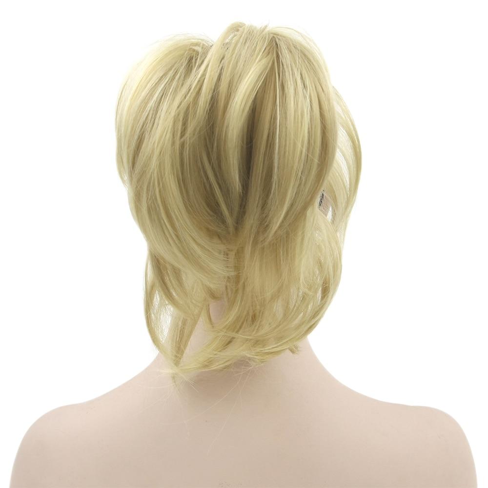 Wtb Kurze Gerade Pferdeschwanz Clip In Haar Extensions Hitze Beständig Synthetische Klaue Kordelzug Haar Pferdeschwanz Für Frauen Haarverlängerung Und Perücken