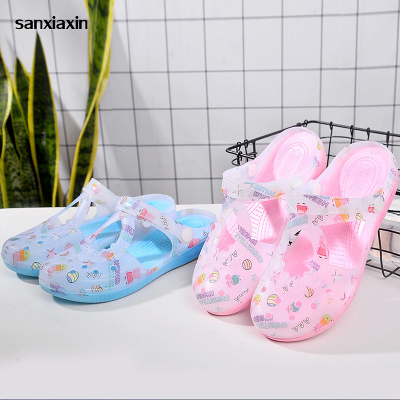 Sanxiaxin Medical Doctors Nurses Surgical Flat Soft Shoes Beach Sandals Anti-slip Protective Shoes Operating Lab Slippers Work