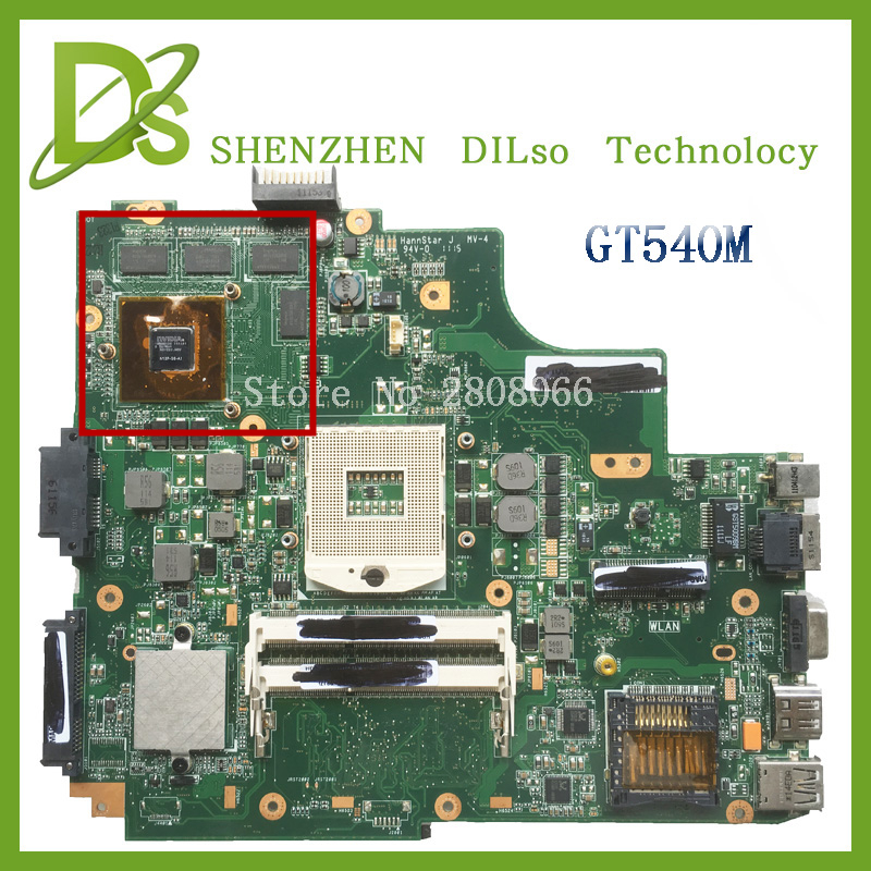 For ASUS K43SV K43SJ laptop motherboard  1G video card K43SV original new mainboard GT540M REV2.2 & rev2.0 100% tested original new laptop motherboard for asus k52jc rev 2 1 ddr3 n11m ge2 s b1 mainboard