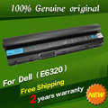 Free shipping 09K6P 0F7W7V 11HYV 312-1239 1446 3W2YX 451-11702 11980 Original laptop Battery For Dell E6120 E6220  E6230  E6320