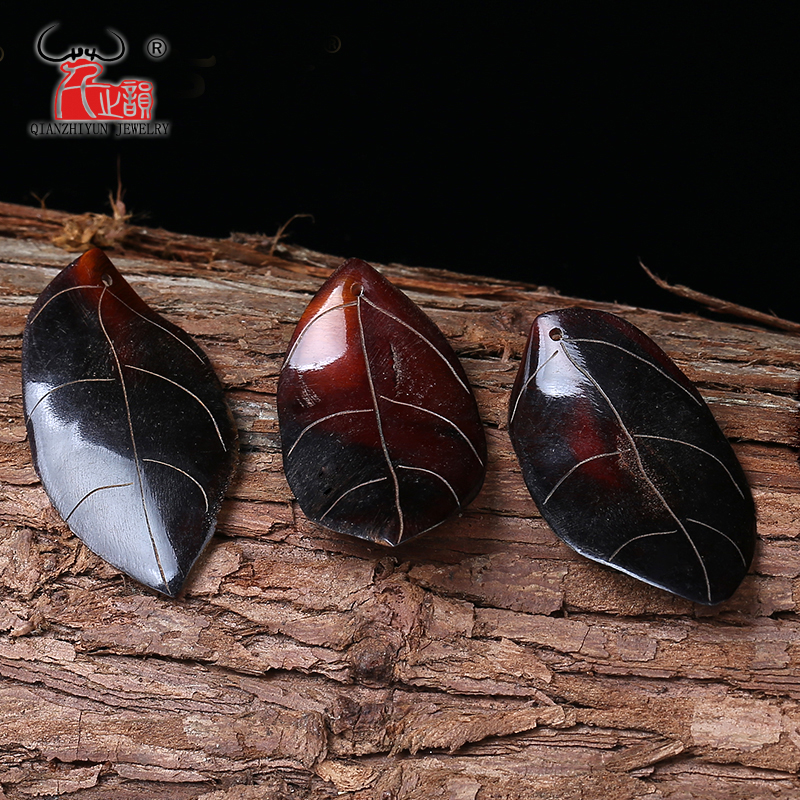 Pure natural horseshoe leaves pendant beads accessories DIY jewelry accessories.