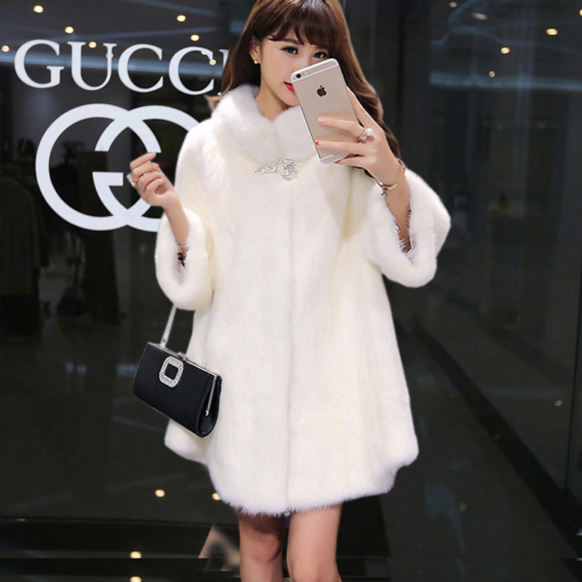 Winter New Faux Fur Coat Long Imitation Rabbit Faux Fur Jacket Coats Female Suede Jacket Casacas Para Mujer Vetement Femme 2019