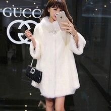 Winter new Faux fur coat long imitation rabbit faux jacket coats female suede casacas para mujer vetement femme 2019