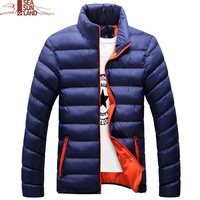 4XL Mens Cotton Padded Coats Winter Jacets Male Warm Parka Mens Bomber Jacket Casual Thick Outwear