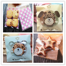 Wholesale New 100pcs Cute Cookie Bag Plastic Packaging Biscuit Candy Gift Bags Cute Cartoon Baby Shower Wedding Party Decoration(China (Mainland))