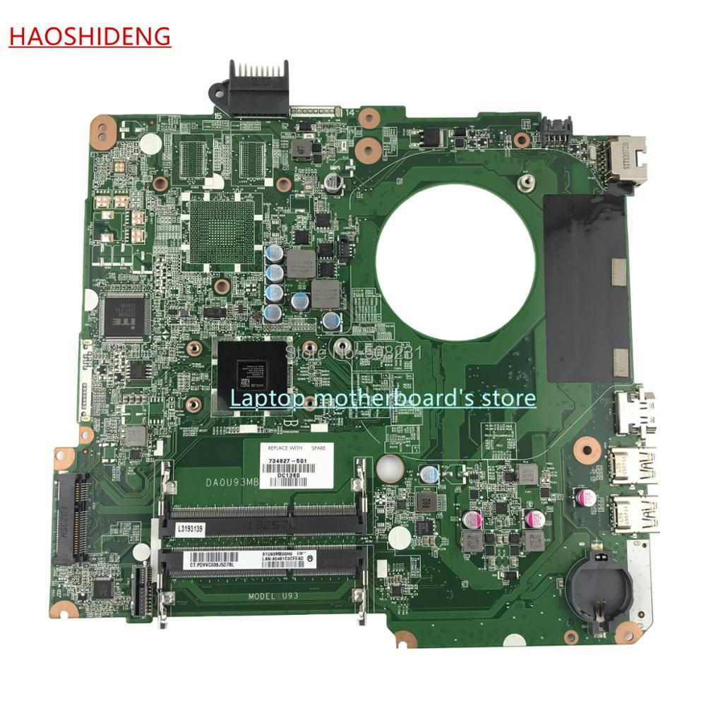 HAOSHIDENG 734827-501 734827-001 U93 DA0U93MB6D0 for HP HP PAVILION 15-N motherboard with A6-5200 ,All functions fully Tested 722204 501 722204 001 for hp pavilion 15 e 14 e motherboard a6 5200m tested working