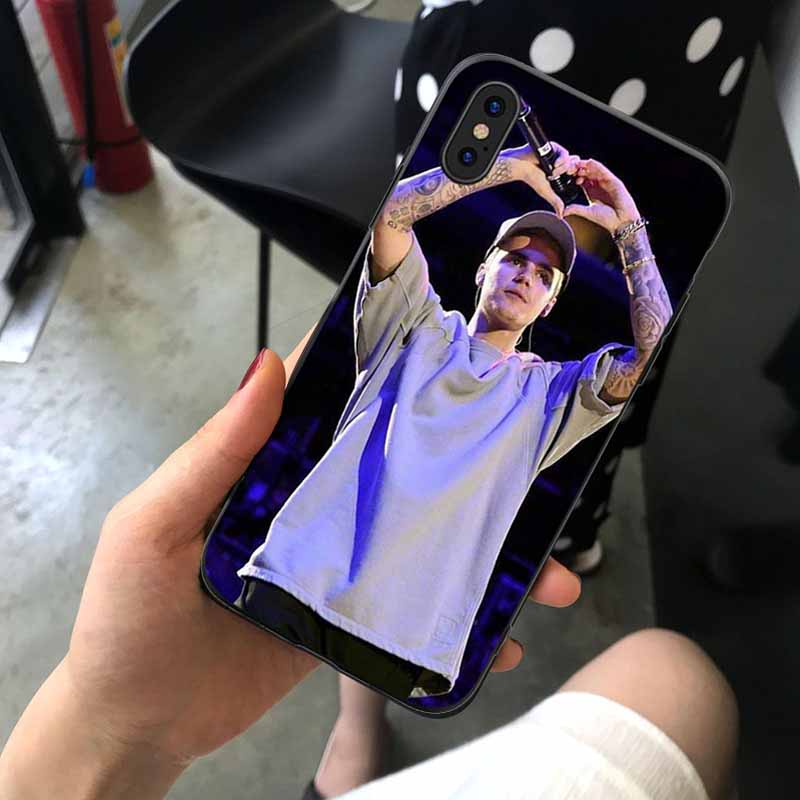 Justin Bieber Phone Cases Cover for iphone X XR XS MAX 6 6s 7 8 Plus TPU Cover Coque For iphone 7 8Plus iphone 5SE Cases in Half wrapped Cases from Cellphones Telecommunications