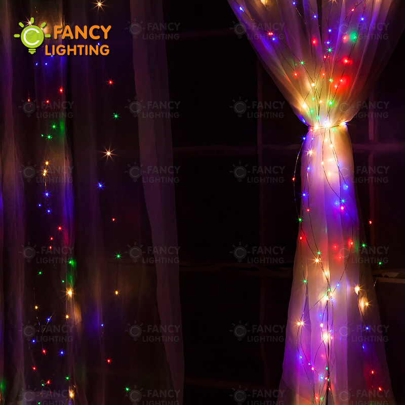 400 Led RGB string lights EU Plug 2Mx2M 220V Waterproof Outdoor fairy lights for home/Christmas/Wedding/Party/holiday decoration blazer georgede пиджаки под джинсы