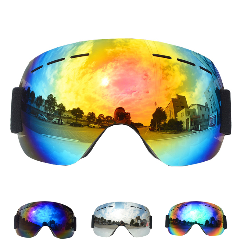 New Ski Goggles Winter Snow Sports Snowboard Goggles With Anti-fog UV Glasses Men Women Youth Snowmobile Skiing Skating Mask