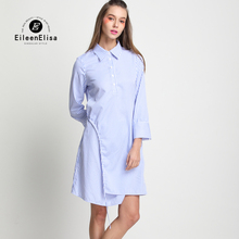 Dress Spring Summer Luxury Fashion Ladies Dresses 2017 Striped Shirt Womens Runway