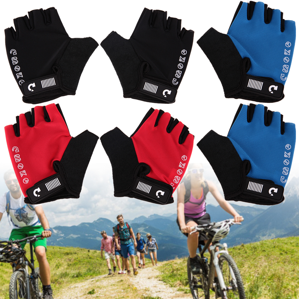 Unisex Breatheable Outdoor Cycling Gloves MTB Road Bike Bicycle Anti-Skid Padded Half Finger Glove Cycling Skiing Mittens