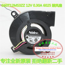 New Original Nidec G60T12MS3ZZ-52J31 12V 0.30A 60*25MM 6CM blower projector cooling fan
