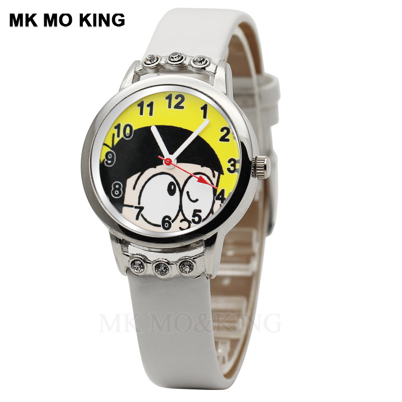 Hot Sale Relojes Kids Watch 3d Dora A Dream Cartoon Boy Quartz Clock Blue Kid Sister Birthday Gift Casual Leather Watch