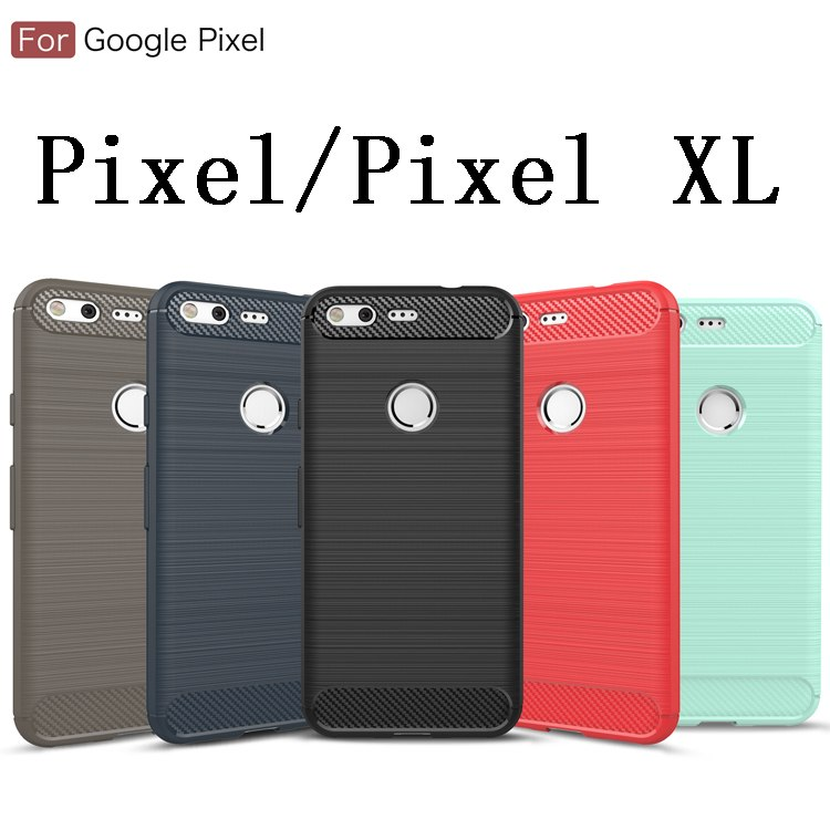 Soft Carbon Fiber Silicone Cover For Google Pixel 3XL 2XL XL Colorful Back Phone Protector For Google Pixel 3 2 1