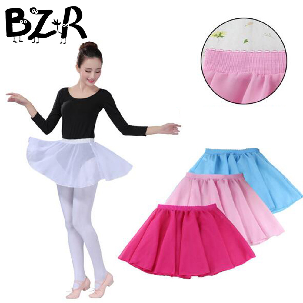 Bazzery Girls Kids Party Ballet Dance Wear Skirt Kids Princess Tutu Skirt Child Elastic Chiffon Tulle Tutus Ballet Accessories