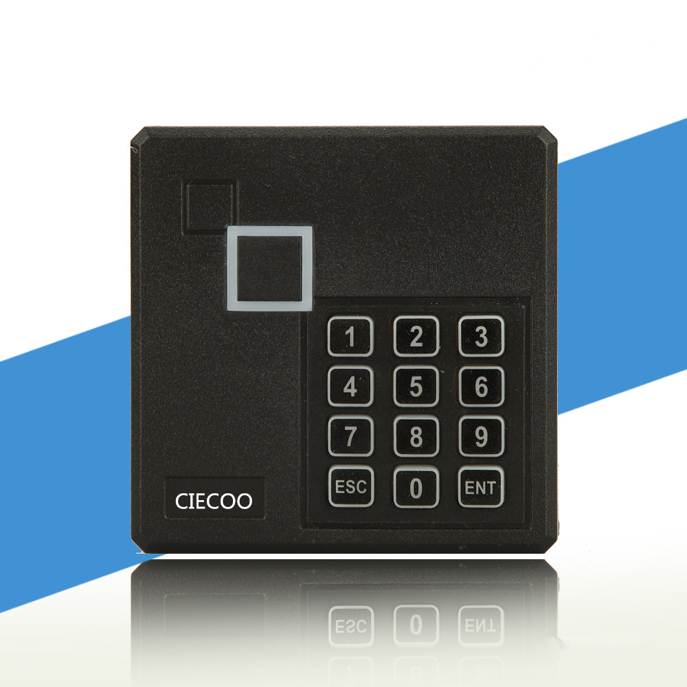 Weatherproof RFID ID /EM Proximity Card Reader with Keypad EM4100 125KHz Wiegand26 for Access Controller 125khz rfid id em card reader