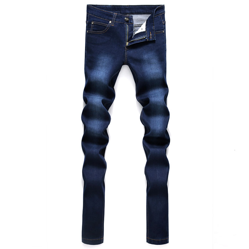2017 Men Stretch Jeans Fashion Blue Denim Trousers For Male Autumn Retro Pants Casual Men's Jeans men s cowboy jeans fashion blue jeans pant men plus sizes regular slim fit denim jean pants male high quality brand jeans