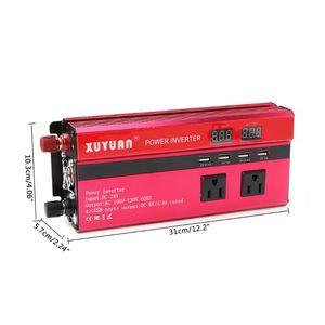 Image 5 - 5000W שמש רכב כוח מהפך LED DC12V כדי AC110/220V סינוס גל ממיר 4 ממשקי USB