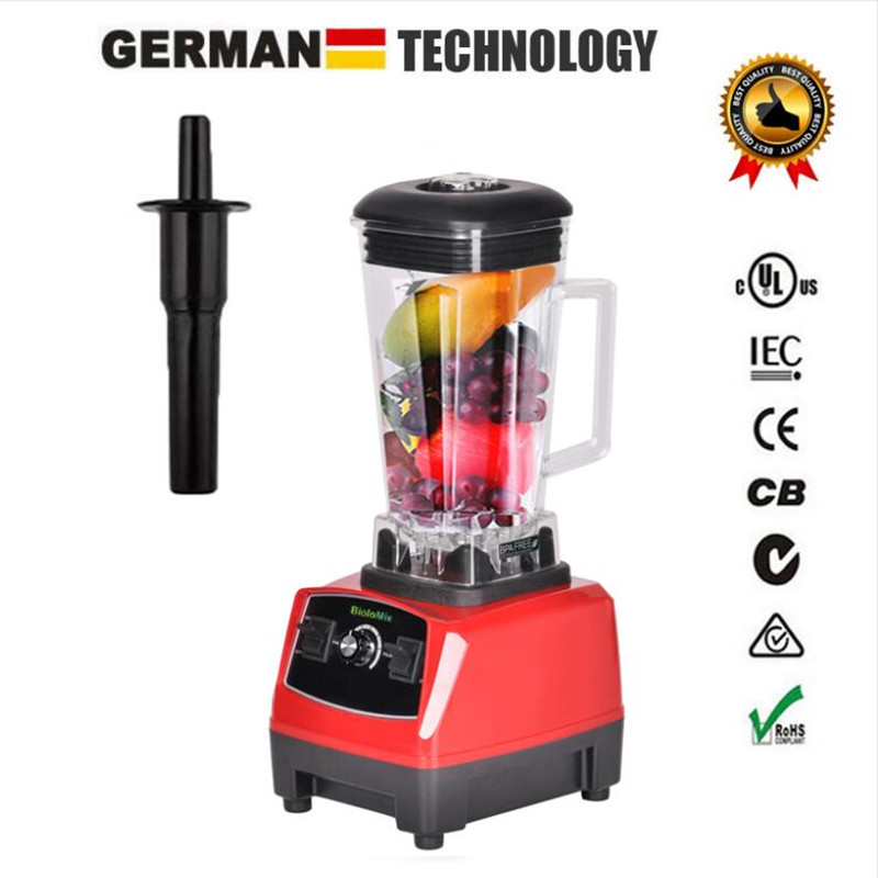 3HP 2200W BPA Free 2L Heavy Duty Commercial Grade Power Blender Mixer Juicer High Power Kitchen Processor for Ice Smoothie Fruit máy xay sinh tố của đức