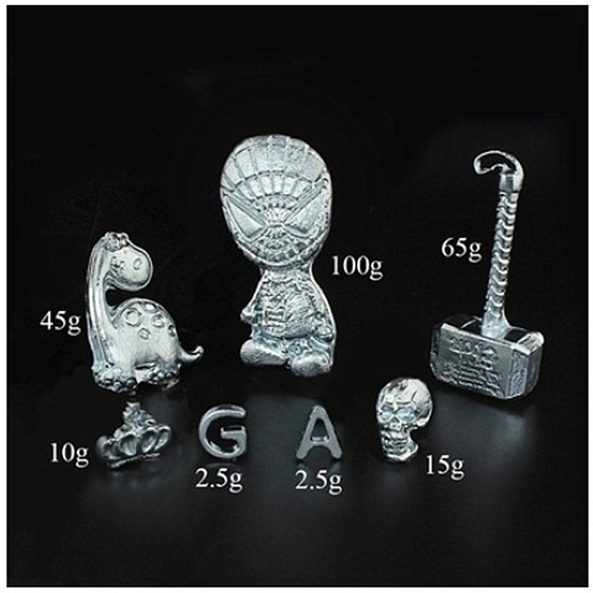 10/20/50g 99.99% Pure Ga Gallium Metal Toy Educational Diy Toy Low Melting Point Metal Magic Magician Supplies