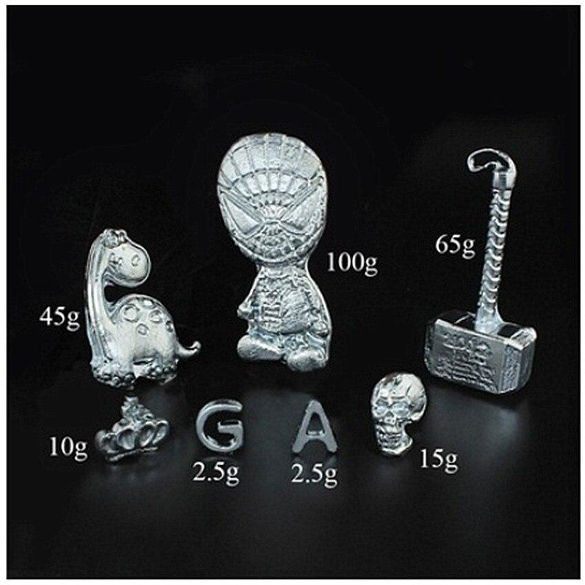 10/20/50g 99.99% Puro Ga Gallio Metallo Giocattolo Educativo di Diy del Giocattolo A Basso Punto di Fusione di Metallo Magico mago Forniture