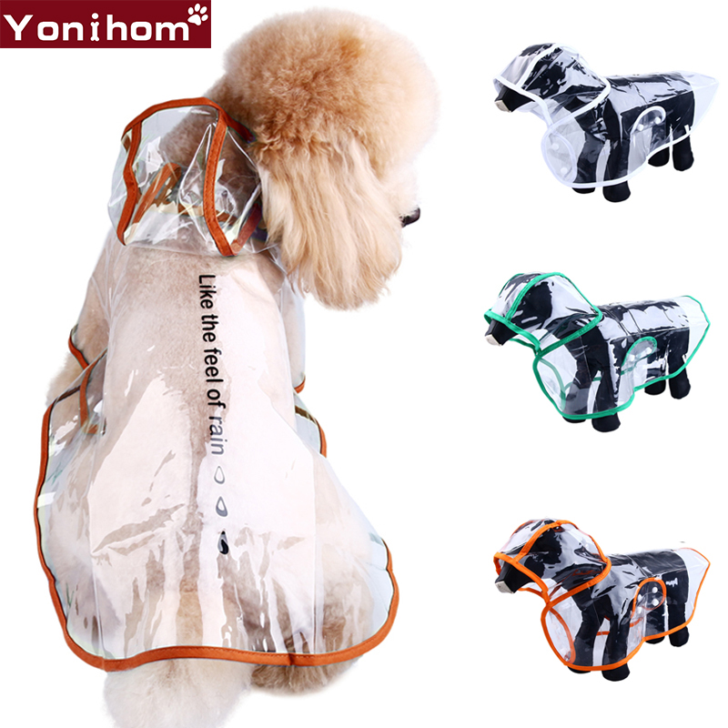 Waterproof Clothing For Dogs Raincoat Transparent Rain Coat Clothes For Dog Raining Dog Clothes Clothing For Dog Yorki Chihuahua