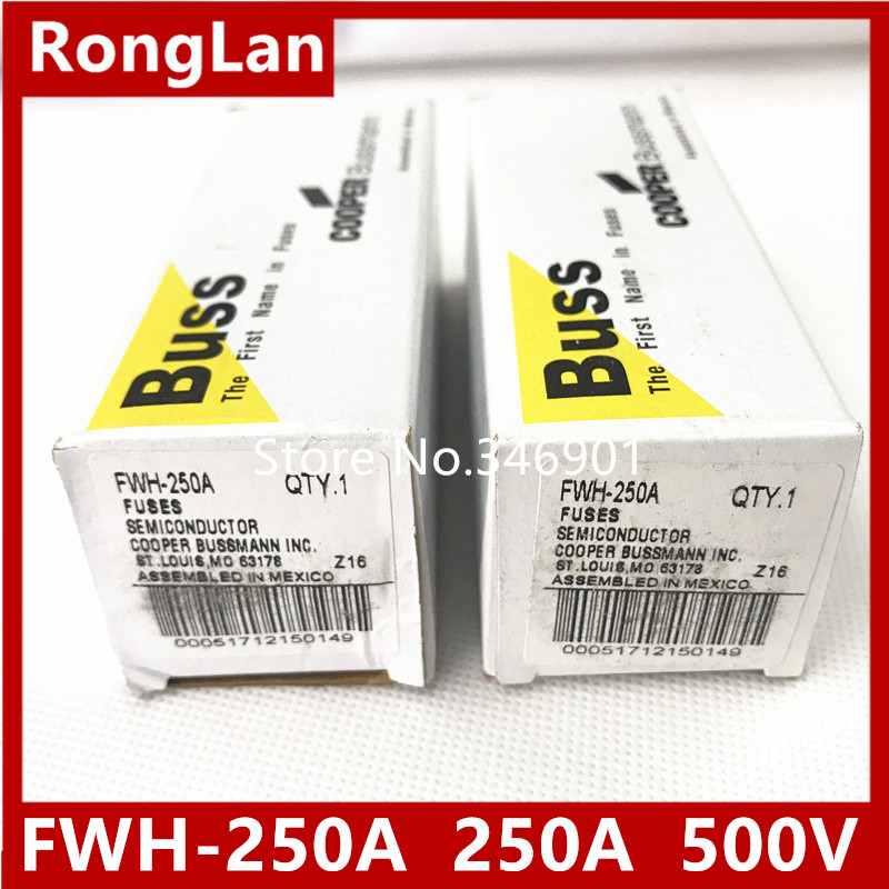 [SA]US Bussmann Fuses FWH-225A FWH-250A FWH-300A FWH-350A FWH-400A FWH-500A 225A 250A 300A 350A 400A 500V ac / dc fuse --3PCS цена