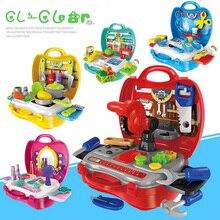 Новый Доктор Столовая посуда инструменты игрушки детей притворяться игровой дом кухня, детские игрушки аптечка Классические игрушки подарки для мальчиков и девочек