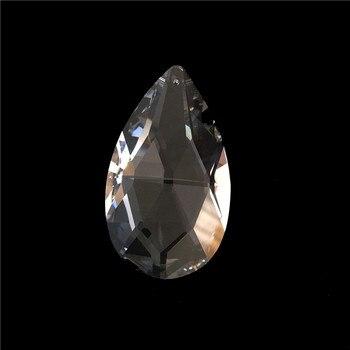 100pcs/Lot 50mm Crystal Chandelier Part Glass Prism Suncatcher Hanging Pendant Free Shipping