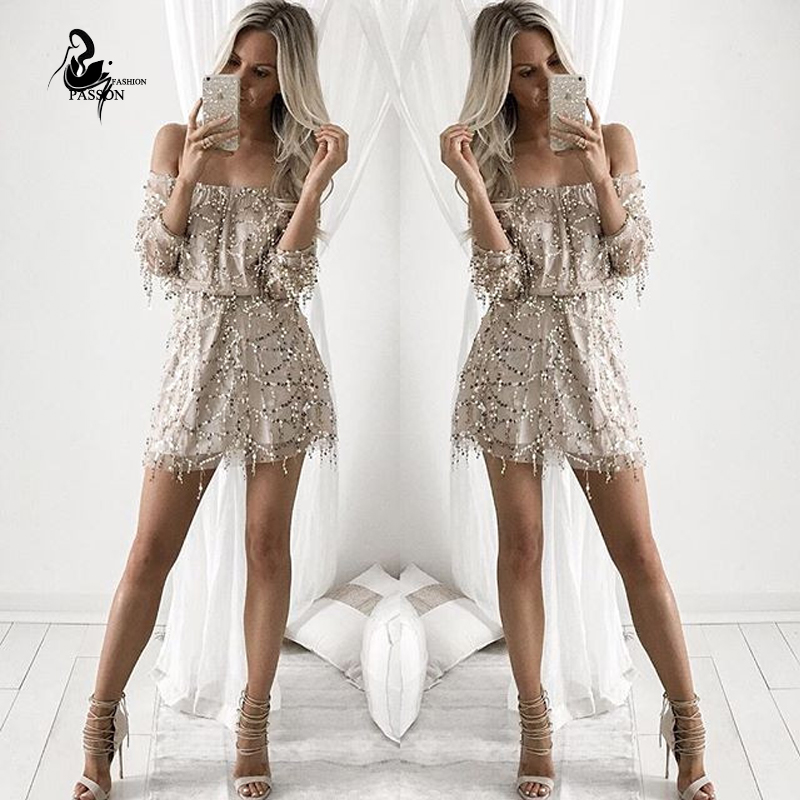 2015 new fashion women brand playsuit casual rompers off shoulder summer Tassel sequins palysuit Plus Size