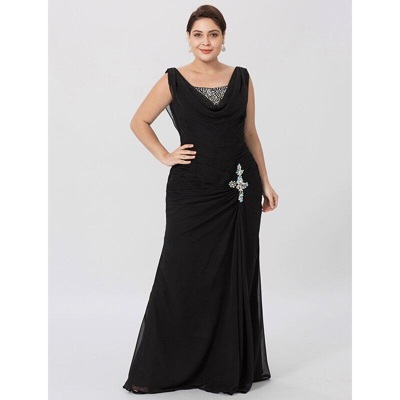 Cowl Neck Wedding Gown: LAN TING BRIDE Sheath Column Cowl Neck Floor Length