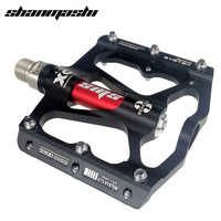 SMS high end bicycle pedal 14mm 3 bearings mountain bike footrest big flat treat pedals alu MTB ultralight 316g cycling 9/16 BMX