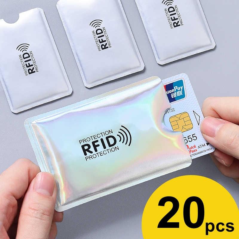 20 Pcs Anti RFID Memblokir Reader Kunci Kartu Bank ID Kartu Bank Case Pelajar Lucu Kartu ID Dompet Paspor bisnis Bancaire