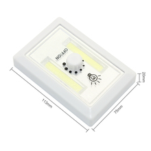 New Magnetic COB LED Wall Night Light Switch Battery Powered Cordless Lamp luminaire For Cabine Garage Closet Home Bedroom