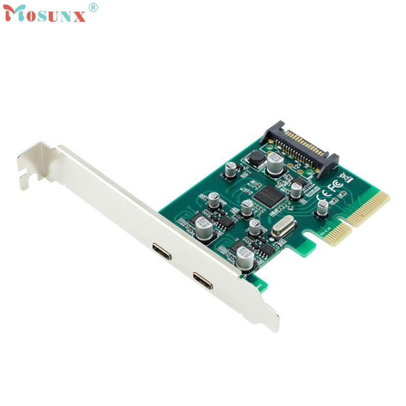 Adroit 2 Port USB 3.1 Type c HUB to PCI-E PCI Express 4X Adapter Converter Card 10Gbps drop shipping 20S7301