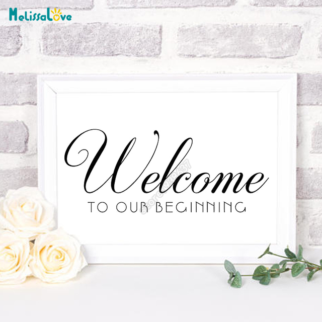 New Design Welcome To Our Beginning Wedding Sticker Reception Sign