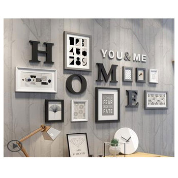 Europe Style Multi-frame Simple Vintage Photo Frame Wall,Family Picture living Frame Sets,Round Picture Frames For Paintings